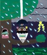 雨の日のこじき虫