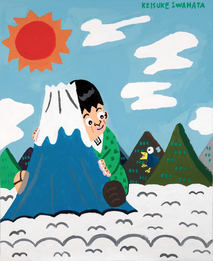 巨人と富士山