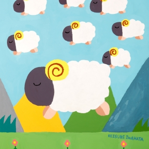 Sheep, like white clouds